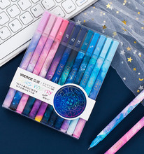 12pcs/lot 0.5mm Kawaii Constellation sky Black Ink Gel Pen for School Office Writing Supplies Cute Stationery