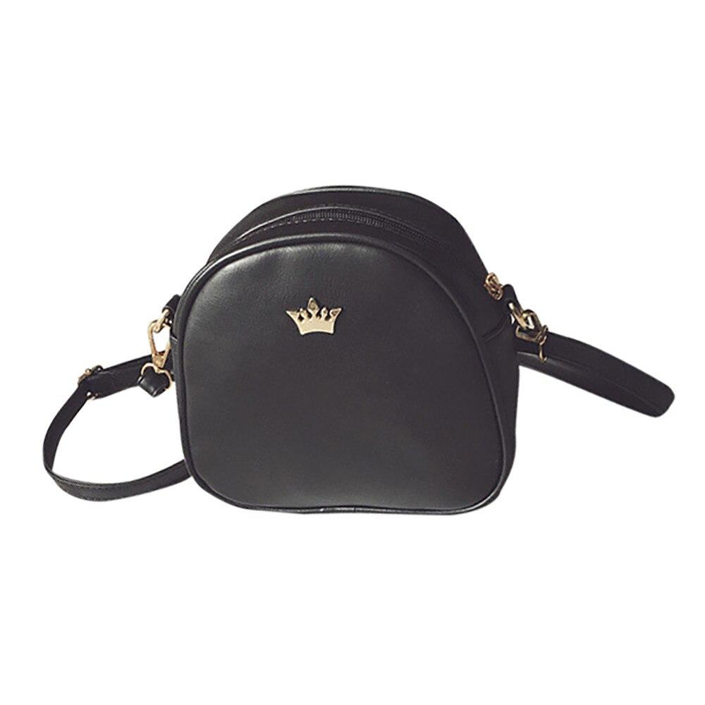 2018 Hot Sale Messenger Bags Fashion Women Messenger Bags PU Leather Shoulder bolsos Mini Crown Evening Bag mochila feminina S
