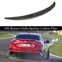 Для Alfa Romeo Giulia 2017 заднее крыло спойлер, магистральные загрузки крылья Спойлеры углерода Волокно