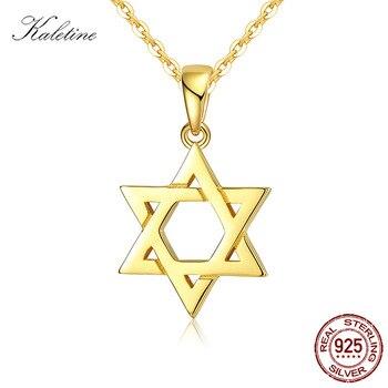 58c62cbe9751 Judío Magen de Estrella de David de plata esterlina 925 collar de plata de  los hombres de las Mujeres de Israel Judaica hebreo de Hanukkah colgantes de  oro ...