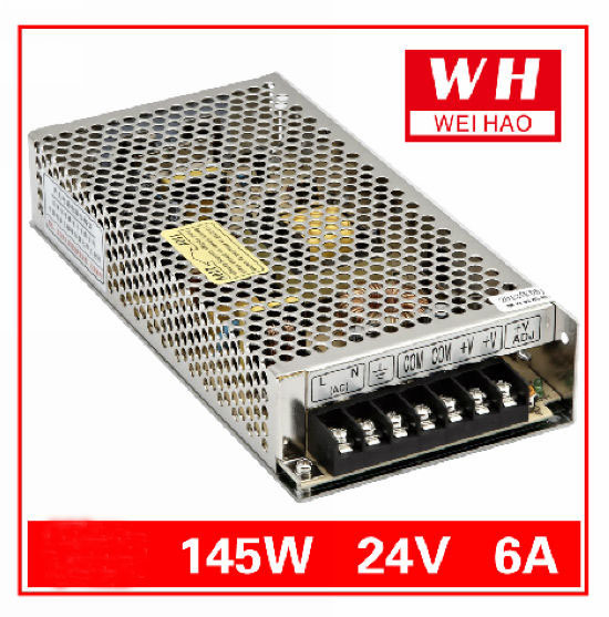 CNC 24V 6A Regulated Switching Power Supply AC 220V to DC24V 145W/DC24V/6A