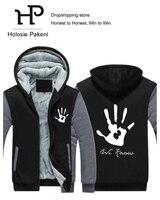 Dropshipping Skyrim Dark Brotherhood Men Hoodies Zipper Sweatshirt Jacket Fleece Thicken Game Fan Jacket Coat