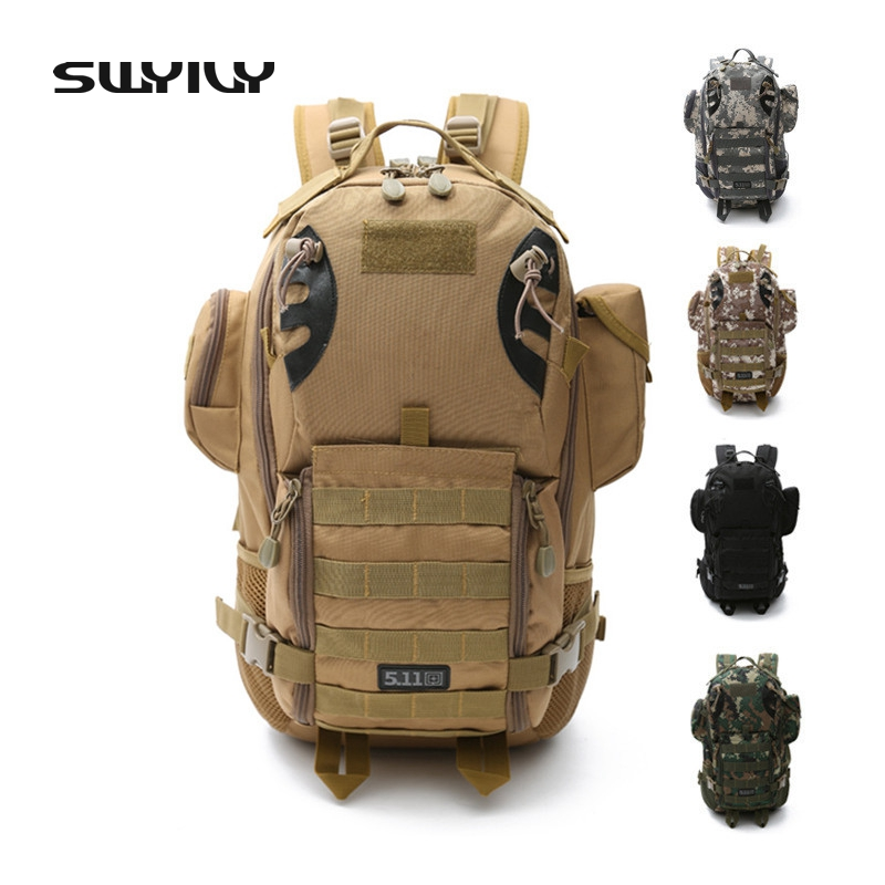 SWYIVY 50L Military Army Bag High Quality Waterproof Nylon Camouflage Backpacks Trekking 3P Tactical Backpack Men's Sports Bag swyivy 50l military army bag high quality waterproof nylon camouflage backpacks trekking 3p tactical backpack men s sports bag