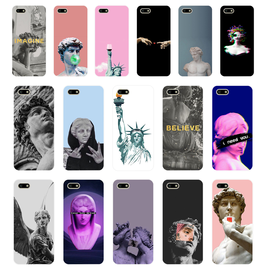 4 Alternative statue art Popular TPU Soft Silicone Case For Huawei Honor 7C 5.7 inch play 7a 5.45 Y5 2018 Russian version Cover