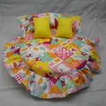Doll bedding bed round simulation doll bed Gifts for girls