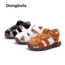 2019 Children Leather Sandals Boys Soft Leather In Summer Ru