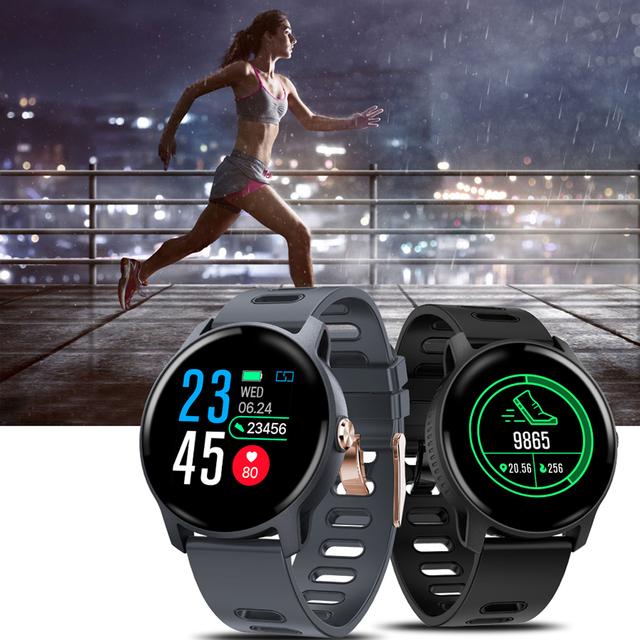 SANDA Smart Watch IP68 Waterproof Tempered Glass Fitness Tracker Smartwatch Men Women Heart Rate Monitor Sport reloj inteligente