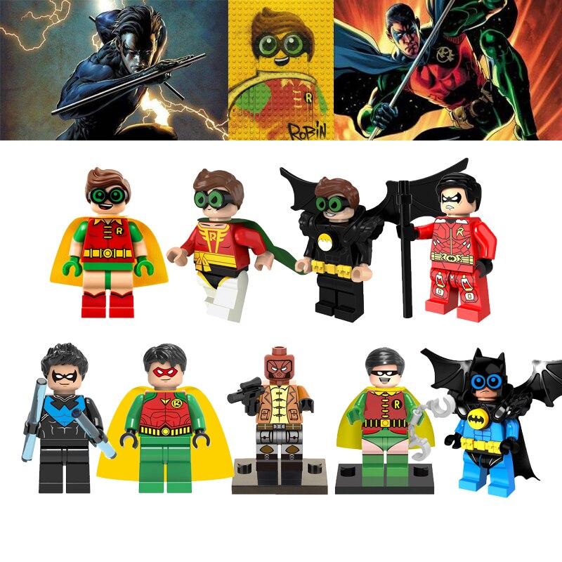 Batman Joker Robin Dc Super Heroes Legoelys Nightwing Red Hood Penjuin Building Blocks X-Men Wolverine Deadpool Toys