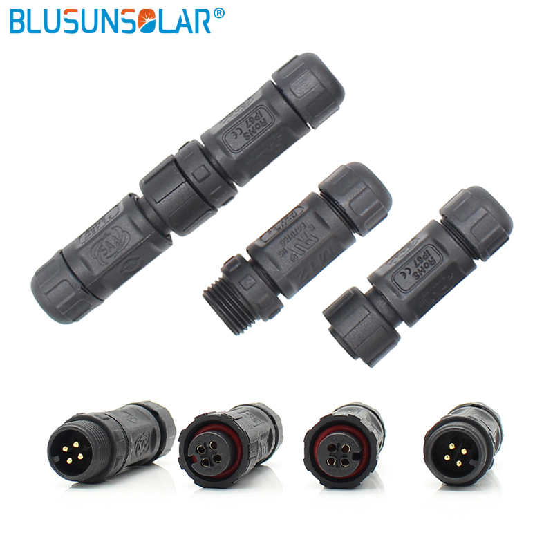 UL certificate 20 pair lot M12 Electronic waterproof connector used in LED Connector 2pin 3pin 4pin
