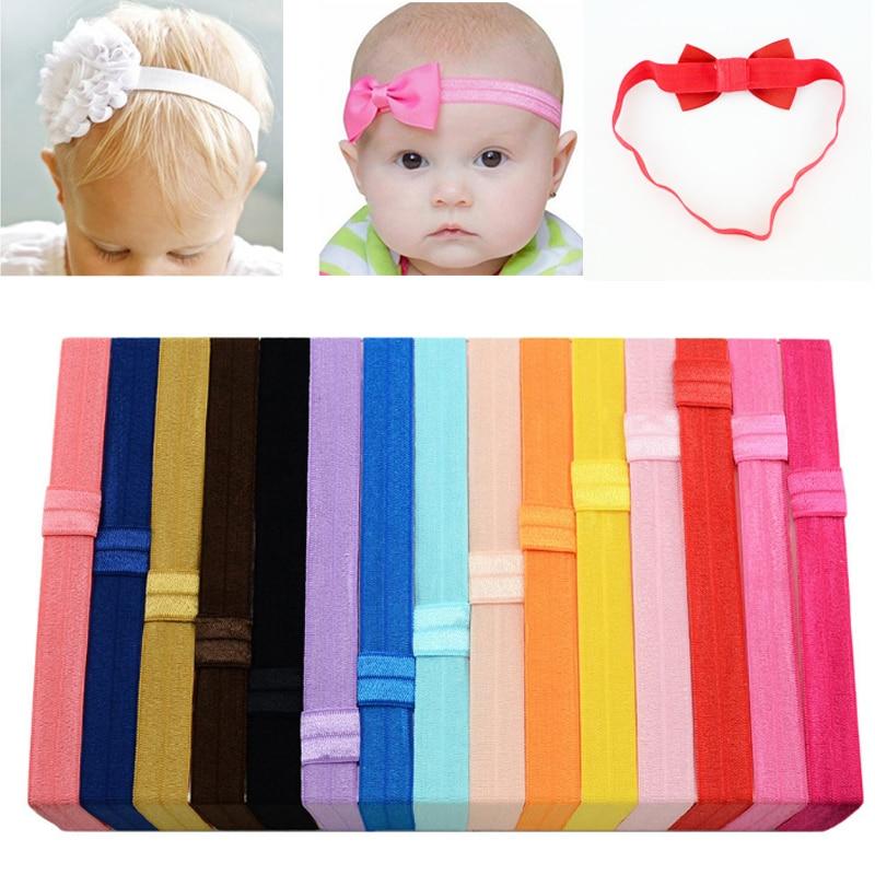 Popular Solid 1PC Hair Accessories Hair Band Korean Headband Candy Color 1.5CM Baby Hot Sale Fashion Children DIY Kids