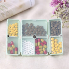TENSKE Portable Medicine Case Foldable Magnetic Supplement Pill Box Organizer Folding flip magnetic travel outdoor storage kit(China)