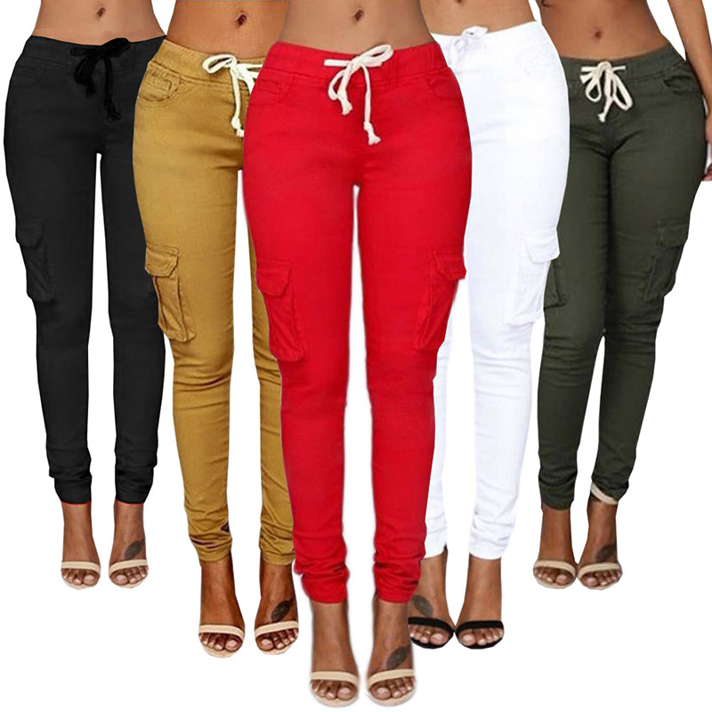 2019 New White Hole Ripped Jeans Women Jeggings Cool