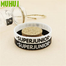 Kpop Super Junior Ever.Lasting.Friend Silicon Bracelets For Women Men Jewelry Friendship Wristband Pulseras B072(China)