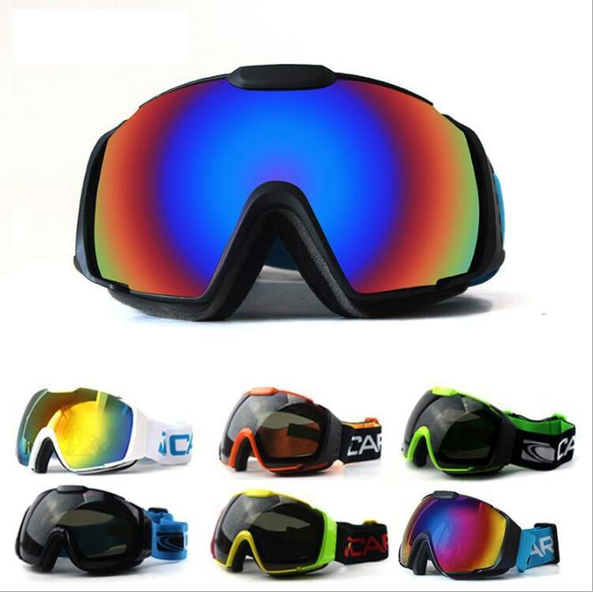 discount ski goggles mnt9  2017 Snowboarding men magnet lenses professional ski goggles 3 Layer len  anti fog big ski glasses
