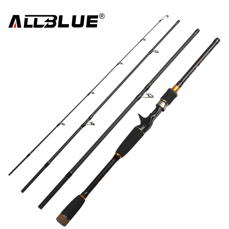 Allblue 2017 nuova canna da pesca spinning rod casting 99% in fibra di carbonio telescopica 2.1 m 2.4 m 2.7 m pesca viaggio rod tackle peche