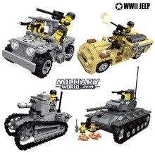 6 видов стилей WW2 Танк военные SWAT полицейская команда строительные блоки солдат армии цифры город Просветите игрушки для детей