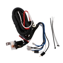12V Car Electric Horn Relay Wiring Harness Kit For Grille Mount Blast Tone Horns vehicle1 set led light 1 to 3 wiring harness relay fuse kit 80a 12v for 12v car off road wiring harness kit loom light bar