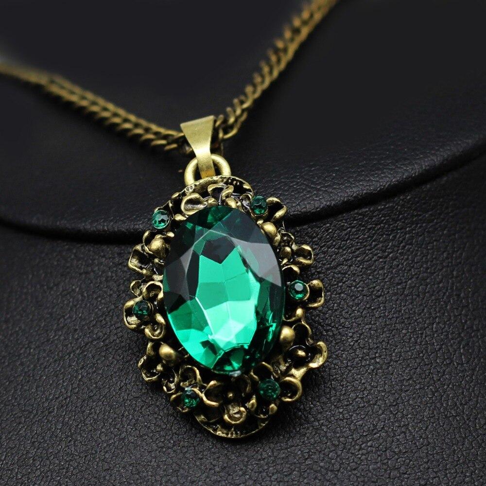 Wedding Charm Bracelet: Fashion Wedding Bridal Jewelry Sets Green Crystal Antique