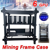 Open Air Mining Frame Case For 6 GPU Crypto Coin Mining Rigs Server Chassis Drawer Style