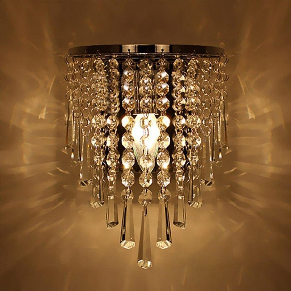 New Modern Fashion Wall Lamps Crystal Wall Light Bed-lighting Crystals E14 Arandela Parede Light Fixtures Free ShippingNew Modern Fashion Wall Lamps Crystal Wall Light Bed-lighting Crystals E14 Arandela Parede Light Fixtures Free Shipping