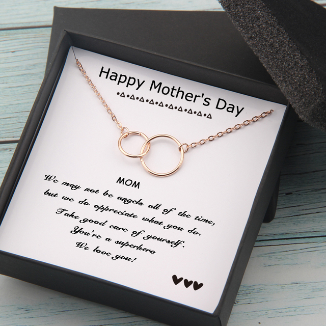 Circles Necklace  Happy Mother's Day Gifts Card  1