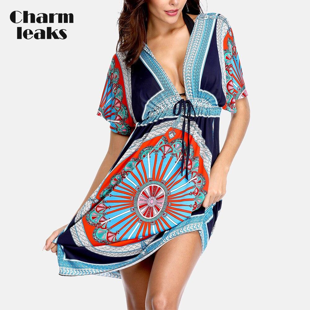 Charmleaks Women's Swimwear Cover Up Chiffon Tassel Bikini Coverup Ladies Kaftan Swimsuit Sexy Tunic Beachwear