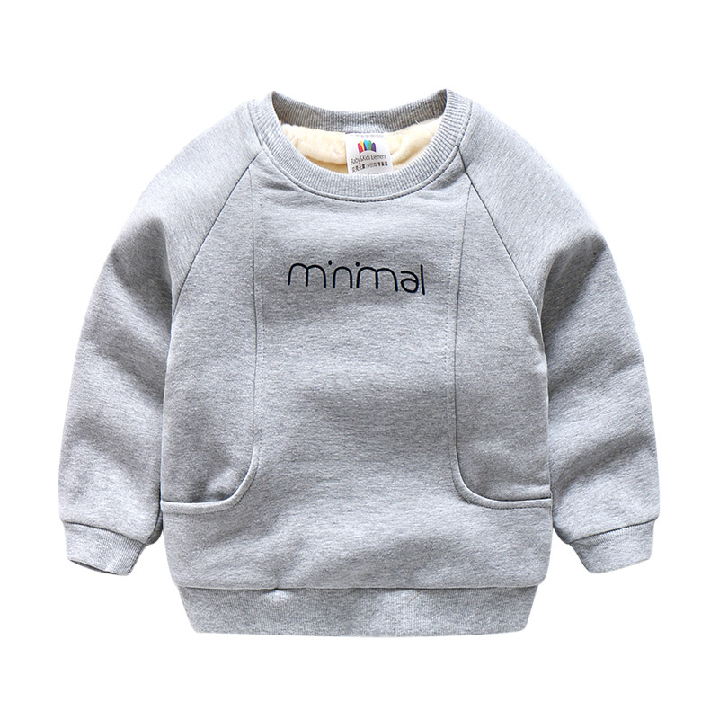 Baby boy sweatshirt 2017 autumn winter kids cotton long sleeve tops O-neck t-shirt children thick coat