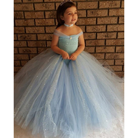 Girls Princess Belle Cosplay Dress Costume Kids Wedding Party Fancy Dress Outfits Girl Tutu Sparkle Dress
