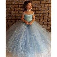 Girls Princess Belle Cosplay Dress Costume Kids Wedding Party Fancy Dress Outfits Girl Tutu Sparkle Dress