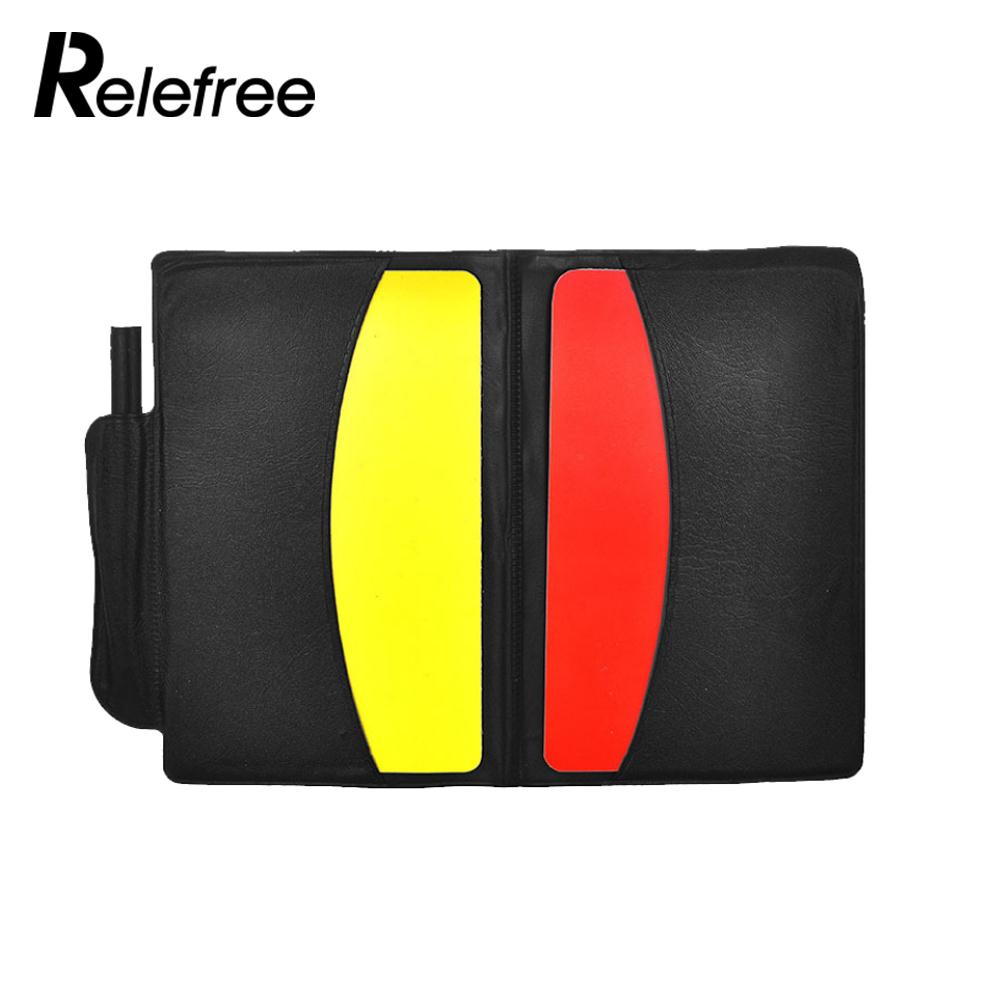1 Set Game Yellow Red Card Football Referee Case Judgecase Booklet With Pencil Great