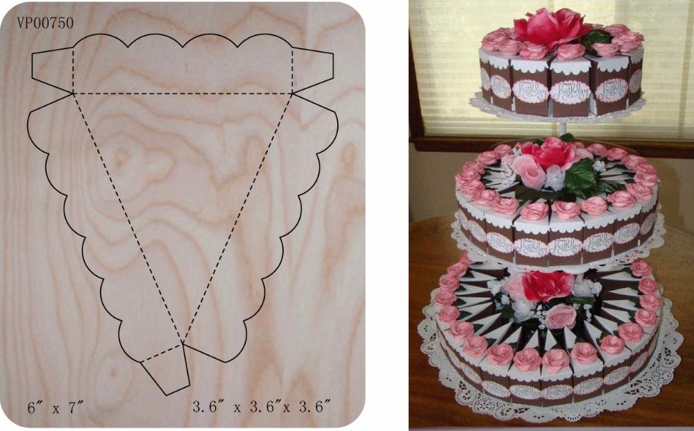 cake box Wooden die fit Scrabooking