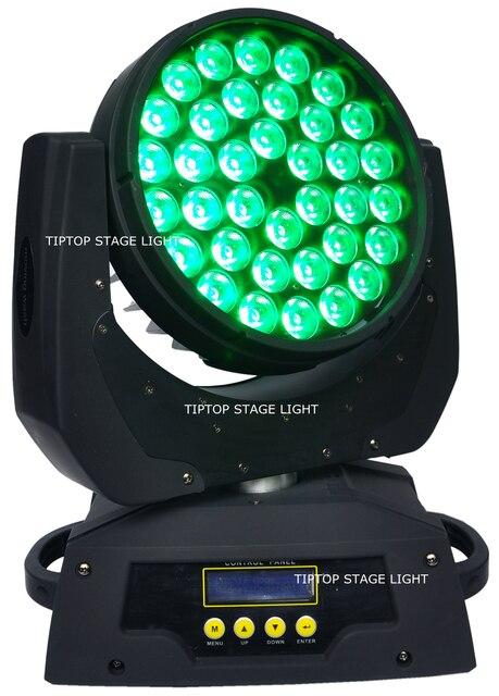 2IN1 Flightcase Pack 36x10W Martin éclairage RGBW 4IN1 Led lavage lampe frontale mobile DMX512 contrôle 15CH 25 degrés lavage haute puissance