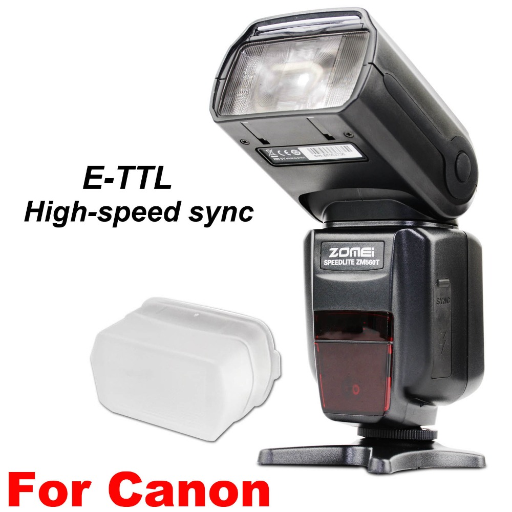 New Zomei ZM560T Pro High Speed E-TTL Flash Flashlight Flashlite For Canon 5D Mark II III 6D 7D 70D 60D 750D 700D 600D 550D DSLR meike dslr camera built in 2 4g battery grip for canon eos 7d mark ii as bg e16