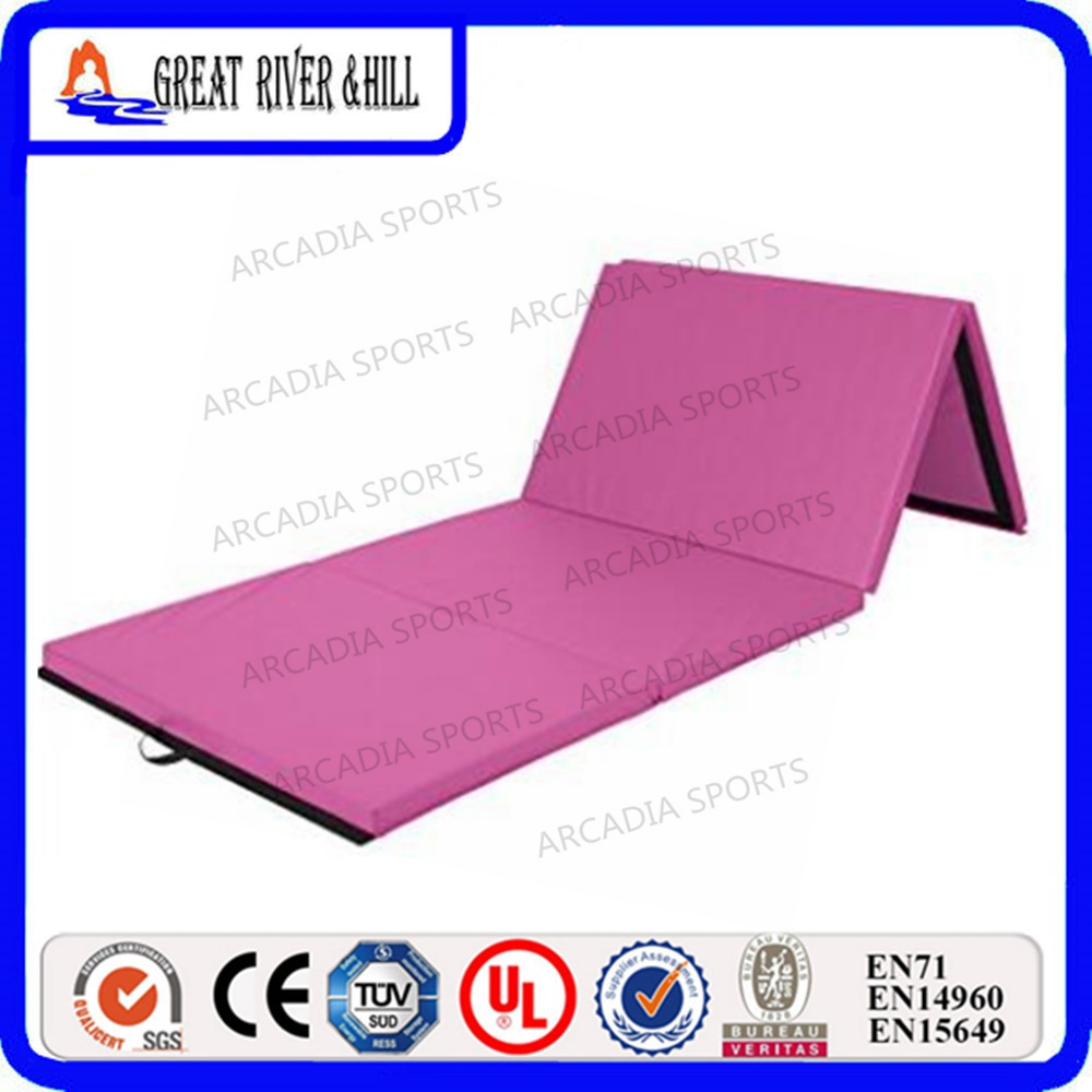 4 Folding Sports Gymnastics Mat Exercise Mat 2.4mx1.2mx5cm gymnastics mat thick four folding panel fitness exercise 2 4mx1 2mx3cm