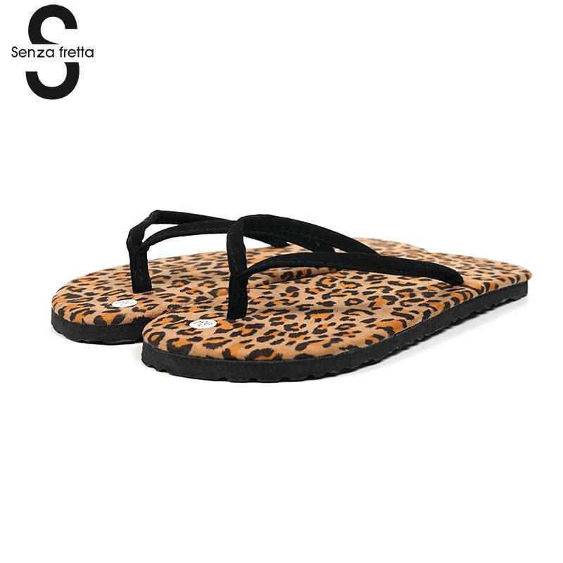 Senza Fretta Flip-flops Flat Anti-skid Flip Flops Wear Cool Slippers Female Casual Flip Flops Summer Beach Sandals Women Shoes senza fretta summer women indoor flip flops high heel flowers slippers thick beach flip flops sandals wedges platform slippers