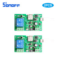 2pcs1ch Wifi Switch Wireless Relay Module Smart Home Automation For Access Control System Inching Self Locking