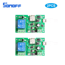 2pcs1ch wifi change wi-fi Relay module Good dwelling Automation for entry management system Inching/Self-Locking usb5V/dc12V 7-32v