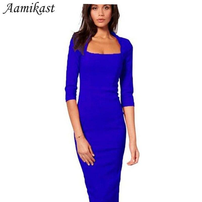 Naiste kleidid kuum müük uus mood pool varrukas põlve pikkusega - Naiste riided
