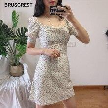 Summer dress elegant floral print vintage dresses women beach short sleeve white party dress sexy club mini dress vestidos