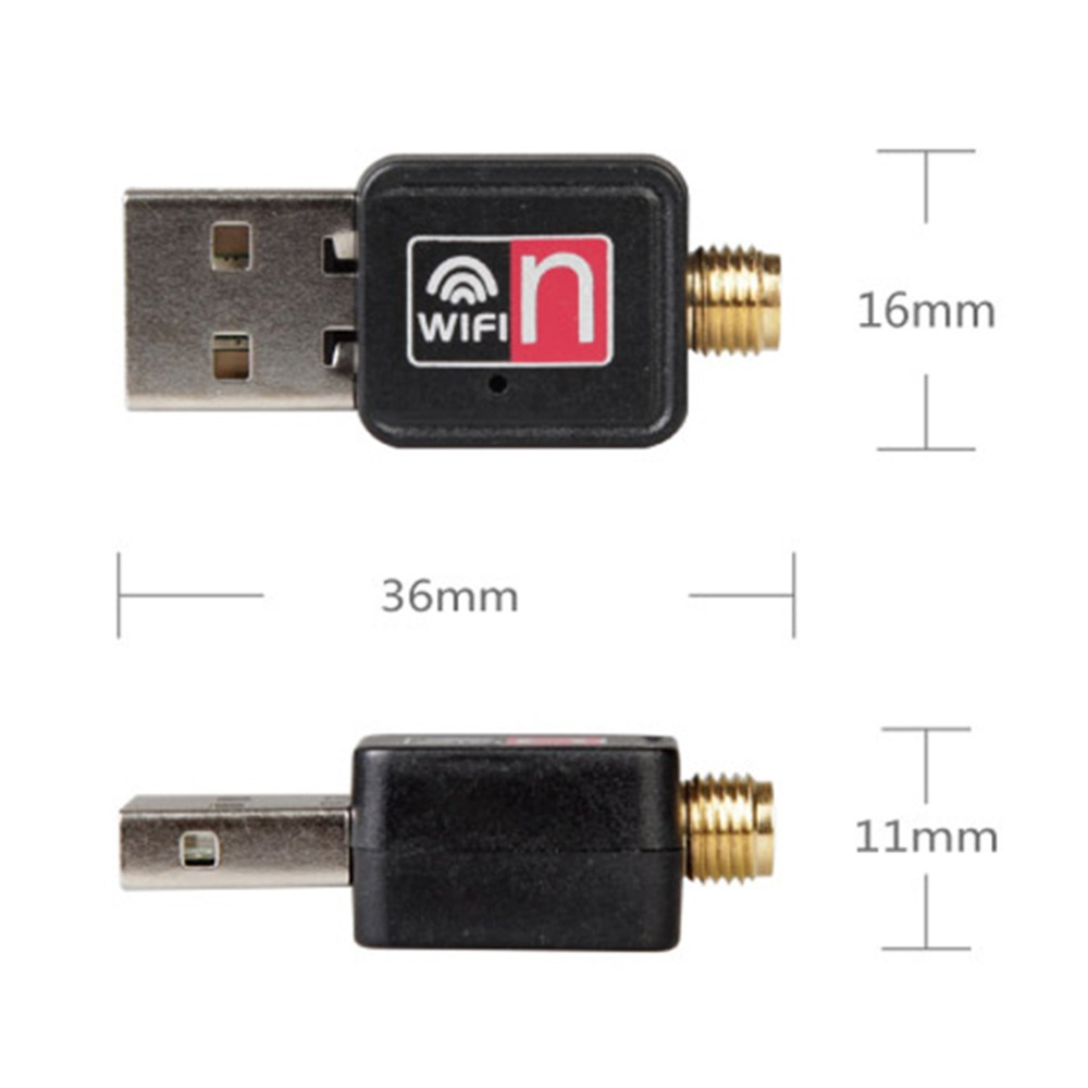 Mini USB 150M 150Mbps Wireless LAN Adapter 802.11b//n//g WiFi w//2dBi Antenna SG LO
