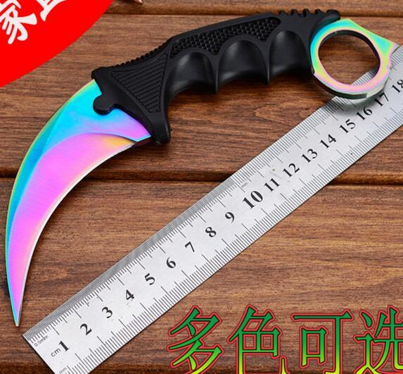 De Chasse à la main Karambit Couteau CS ALLER Ne Se Fanent Jamais Contre Grève Combat Survie Tactique Couteau Griffe Camping couteaux Outils N032