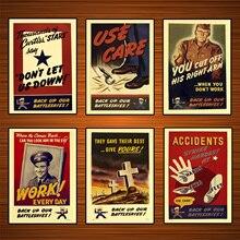 Vintage EE. UU. WW2 Producción de carteles de Propaganda uso importa dar su mejor clásicos de lona pinturas de pared de Casa decoración regalo