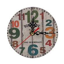 11 видов стилей экзотические антикварные настенные часы Домашний Деревянный часы декоративные Шебби-шик, рустикальный Ретро часы домашний декор