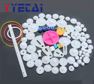 Plastic Gears Kit Pulley Belt Shaft Gearbox Motor Robot Accessory DIY Toy New