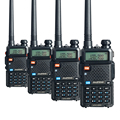 4 PCS Baofeng UV-5R Walike Talkie Pofung Dual Band Two Way CB Radio UV5R ham radios  5W 128 CH UHF VHF FM VOX Dual Display