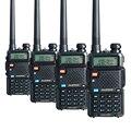 4 PCS Baofeng Walike Talkie Pofung UV-5R Dual Band Dois Sentidos CB rádios de presunto UV5R rádio 5 W 128 CH UHF VHF FM VOX Dual exibição