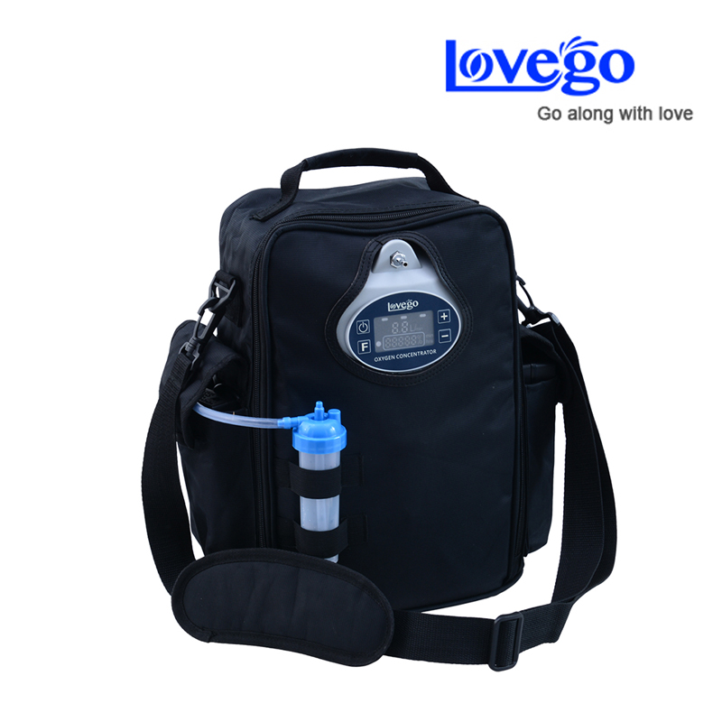 Newest Lovego portable oxygen concentrator LG102 with two batteries