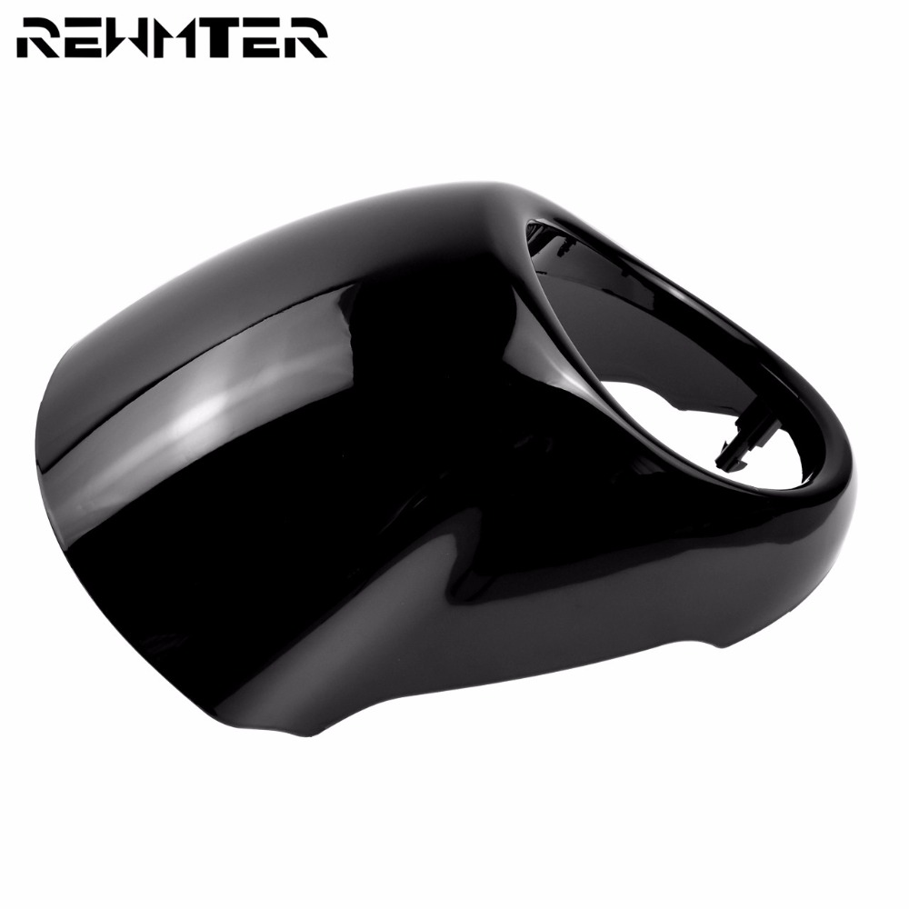 Headlight Lamp Head Light Cowl Motorcycle Headlamp Visor Mask Cover For <font><b>Harley</b></font> <font><b>XG750</b></font> STREET XG 750 14-17 Black image