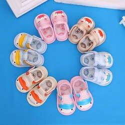 Новая весенне-летняя Нескользящая дышащая детская обувь на мягкой подошве для мальчиков и девочек 0-1 лет с героями мультфильмов