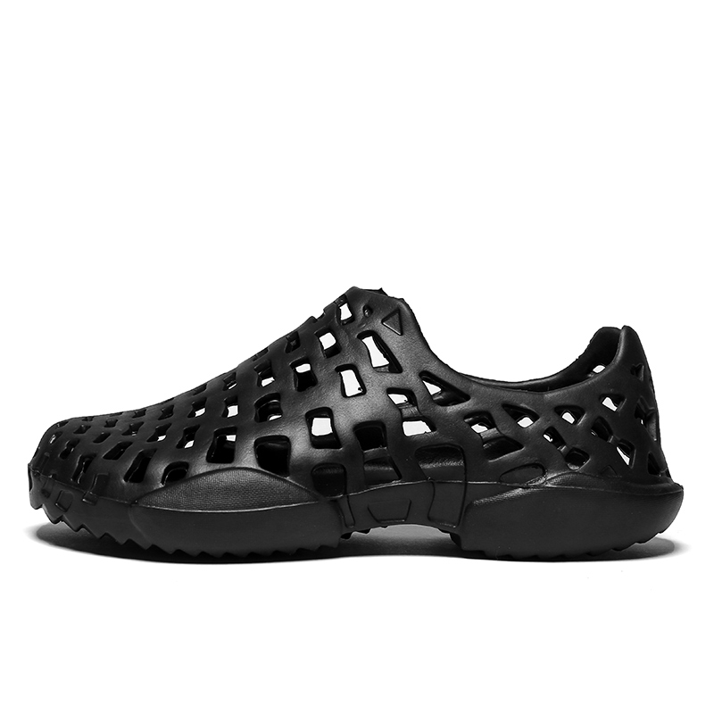 Большой размер 45 летние пляжные сандалии Обувь для Для мужчин дышащая Повседневное водопой Обувь открытый Туфли без каблуков Шлёпанцы для ...